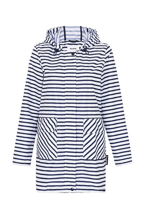 'Zigstripe' Patterned Raincoat - PAQME