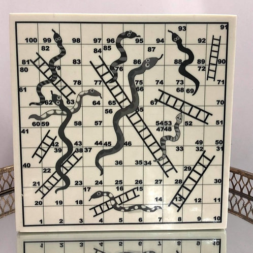 Snakes & Ladders Bone Lidded Box