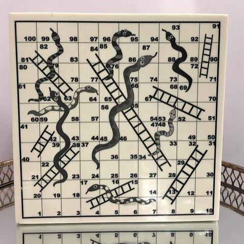 Snakes & Ladders Bone Lidded Box
