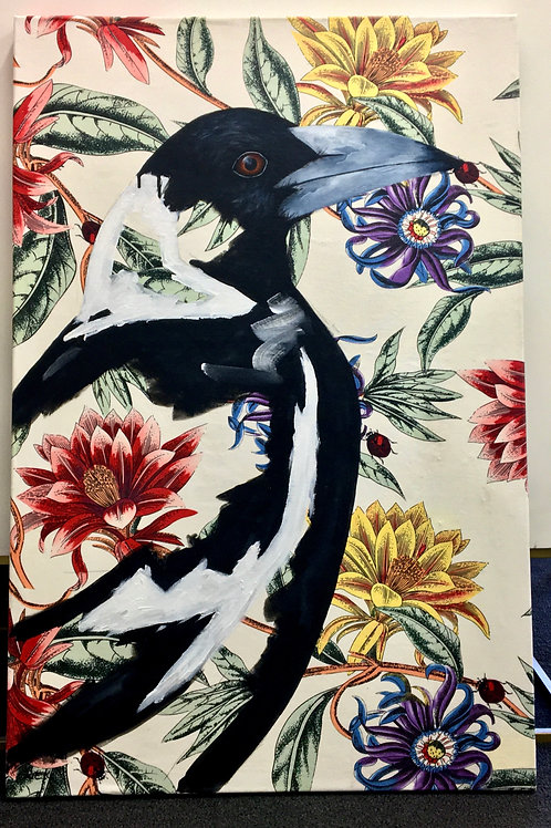 Acrylic Magpie Canvas