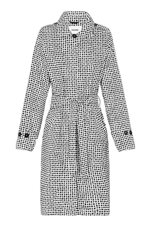 'Dalmatian' Patterned Trench Raincoat - PAQME