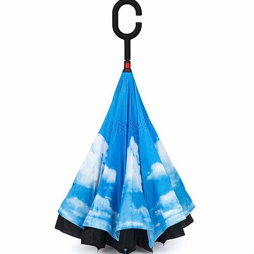 Blue Skies Reverse Umbrella
