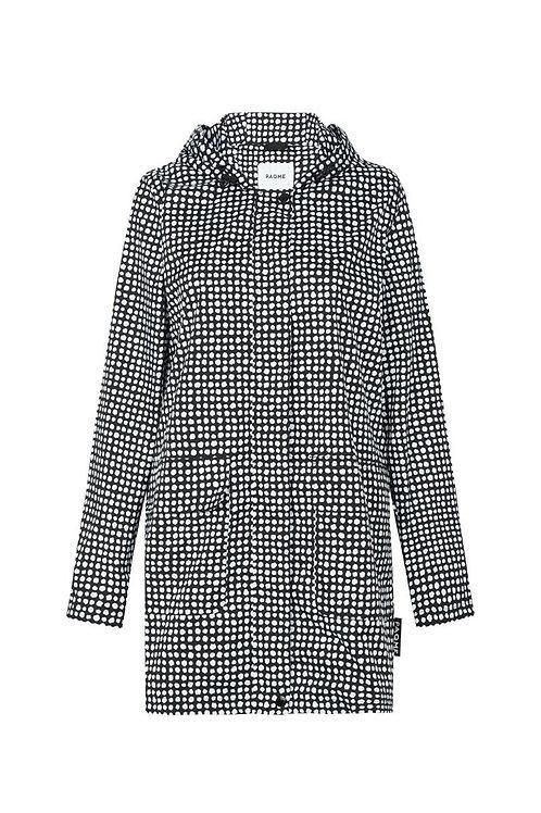 'Black Dalmatian' Patterned Raincoat - PAQME