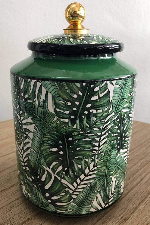 Tilda Green Leaf Ginger Jar