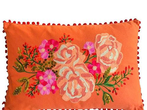 'Roses' Rectangular Cushion