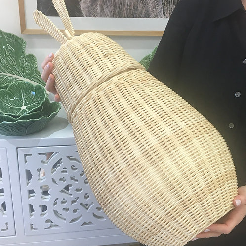 Light Rattan Pear Basket