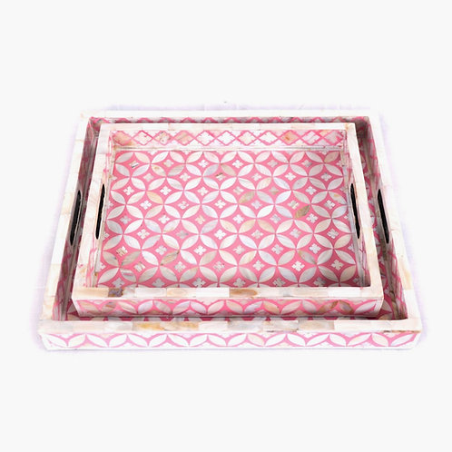 Mother of Pearl Geometric Trays - 2 Sizes Available