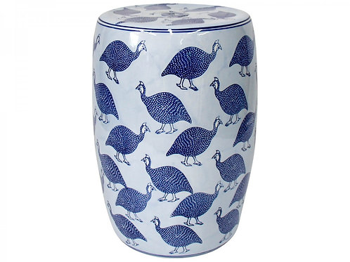 Guinea Fowl Ceramic Stool