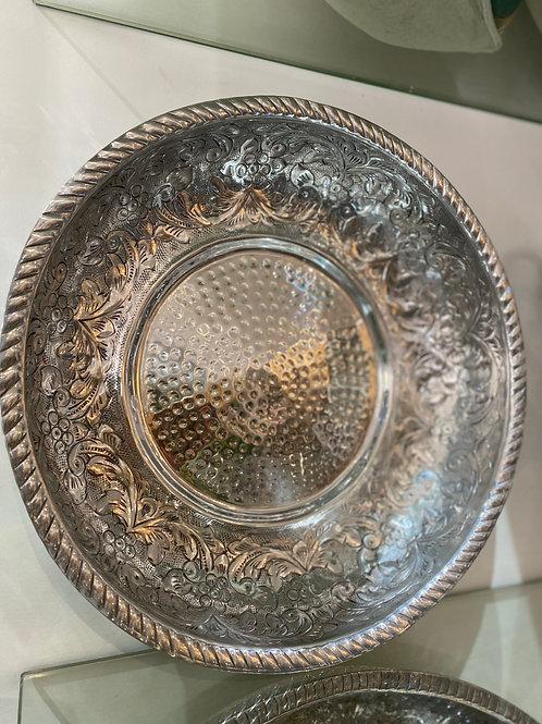 Platter Bowl Hammered Aluminium