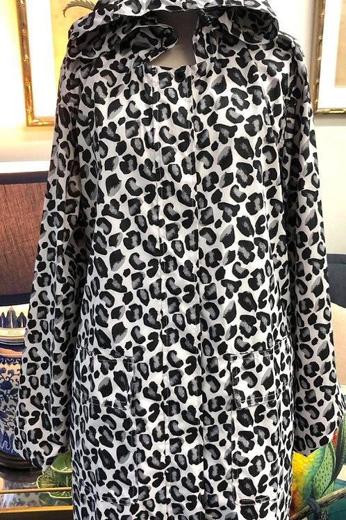 'Geo Leopard' Patterned Raincoat - PAQME