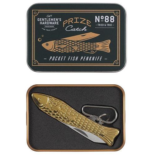 Brass Pocket Fish Penknife - Gentlemen's Hardware