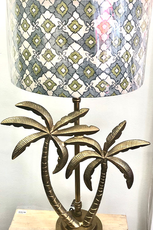 Gold Double Palm Lamp Base