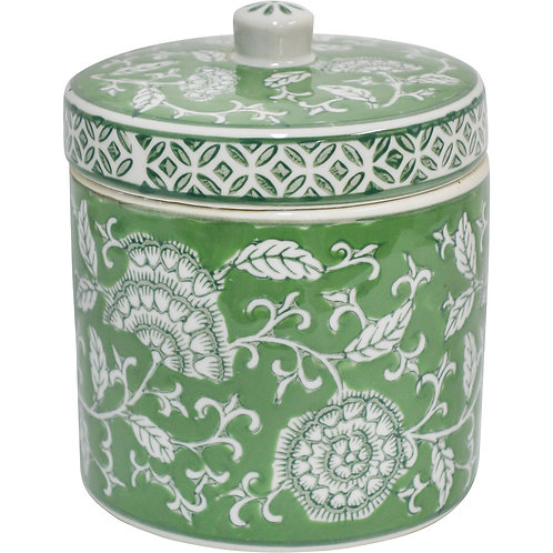 'Fern Tapestry' Small Ceramic Ginger Jar