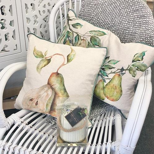 Linen Pear Cushions - 2 Designs