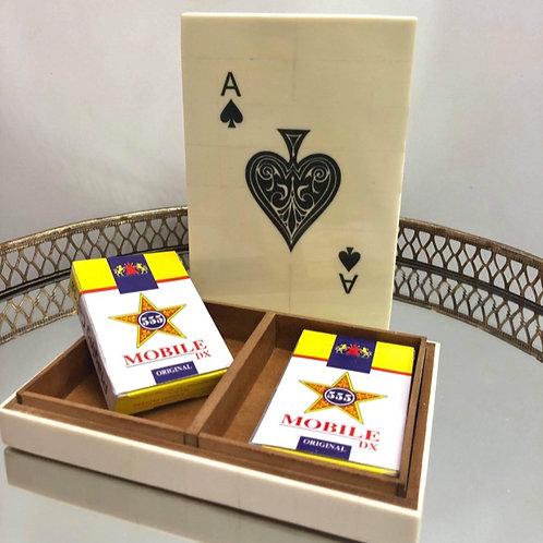Playing Cards Bone Lidded Box
