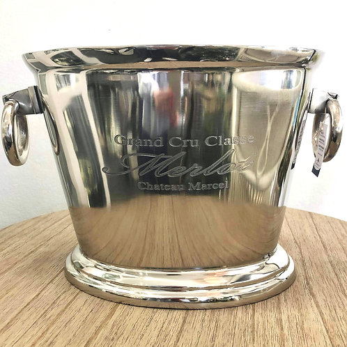 Oval-shaped Nickel Champagne Bucket
