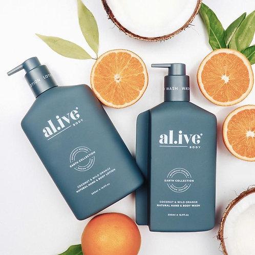 Coconut & Wild Orange - Al.ive Wash & Lotion Duo + Tray
