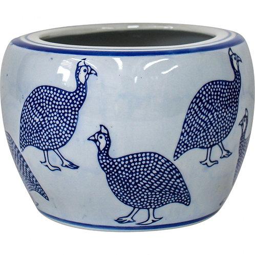 Guinea Fowl Planter Pot