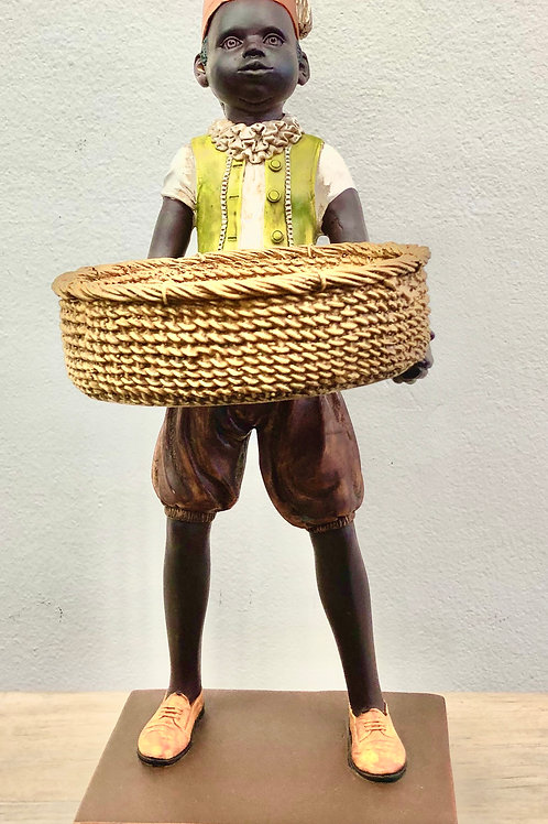 Boy With Basket Statue