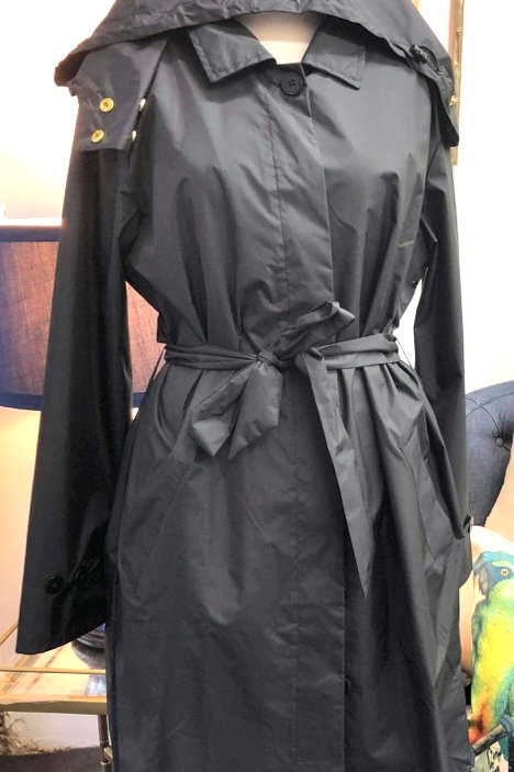 'Black' Trench Raincoat - PAQME