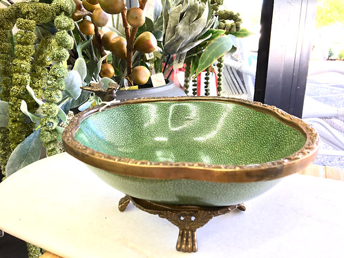 Footed Bowl Celadon Green