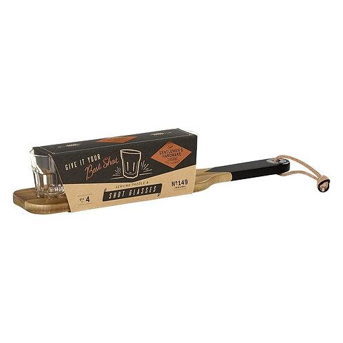 Serving Paddle & Shot Glasses Set - Gentlemen's Hardware