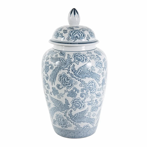Aviary Print Ginger Jar