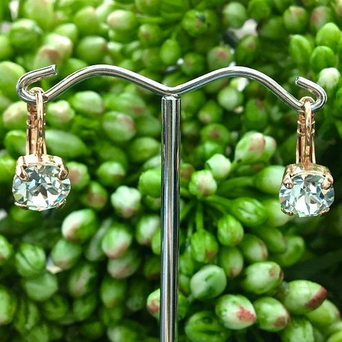 Clear Crystal Rose Gold Earrings - Mariana