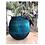 Thumbnail: Vase Cut Glass Blue Tint Sml