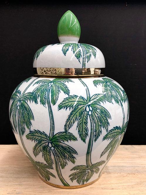 'Barbados Palms' Ceramic Ginger Jar