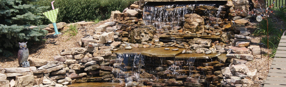 Pondless waterfall, several tiers!