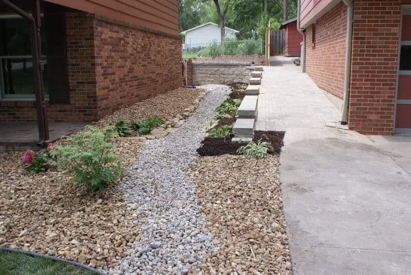 Simple and maintenance free walkway!