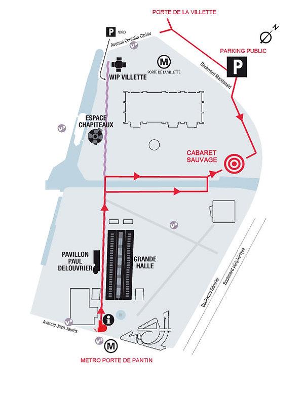 Plan d'accès du Cabaret