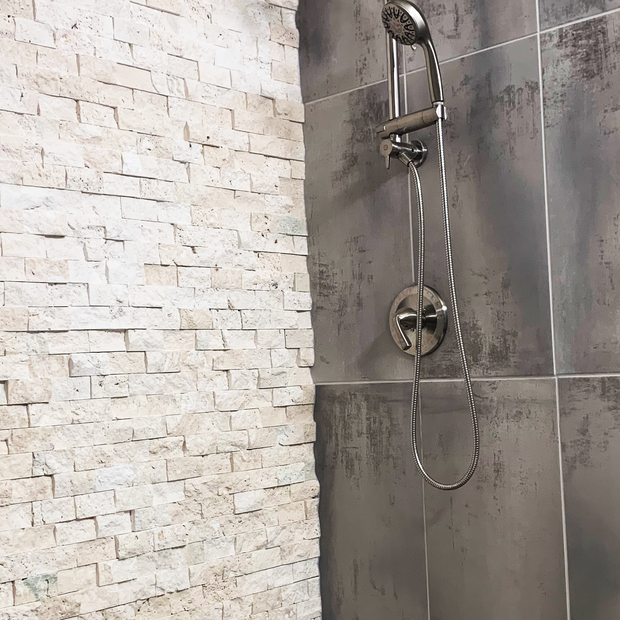 Shower Fixture and Stone