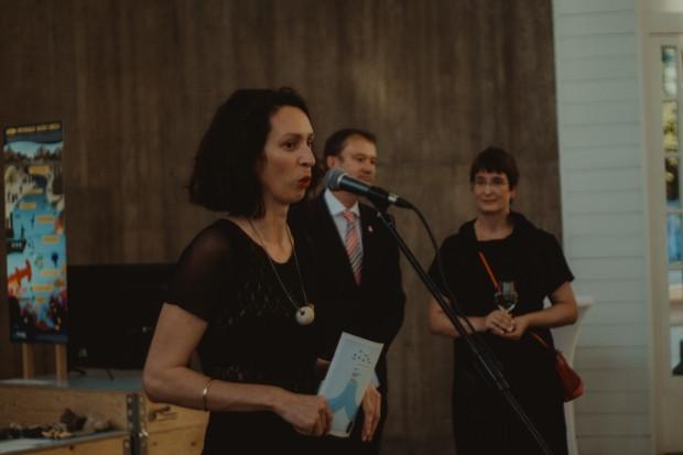 Petra Počanić na otvorenju izložbe u Francuskom paviljonu