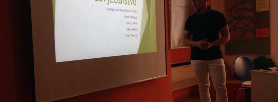 Predavanje učenika Srednje škole Mate Balote