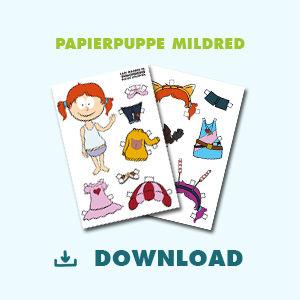 Papierpuppe Mildred