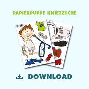 Papierpuppe Knietzsche