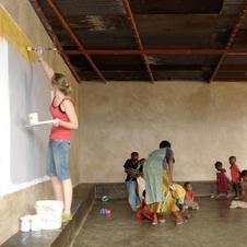 Veronika Szkudlarek at The Mother of Theresa Orphanage in Kigali