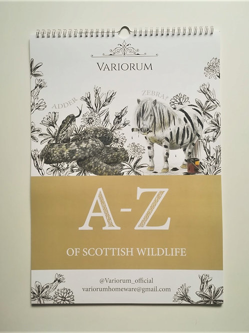 A-z of Scottish Wildlife 2021 Calendar
