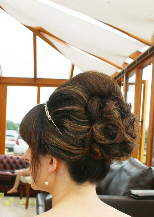 Getting the Wedding Hair ready before leaving for Rook Lane Chapel