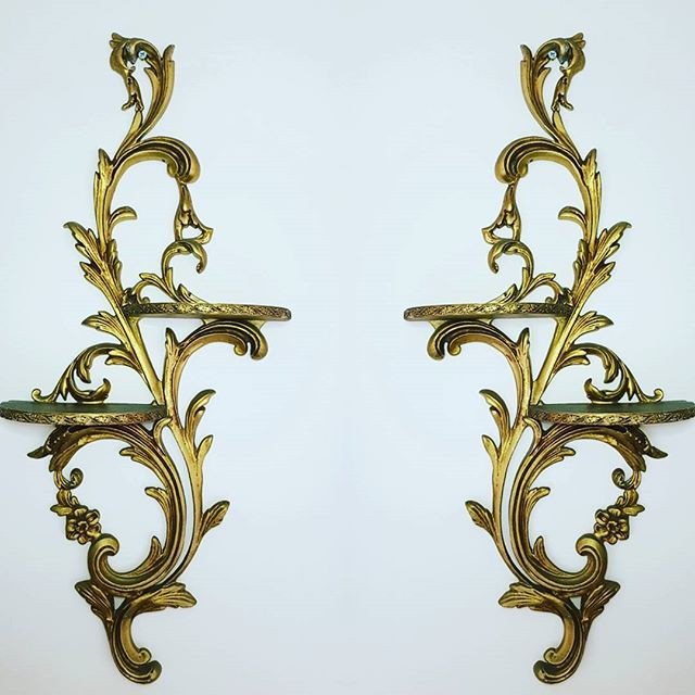 Pair of gold sconce