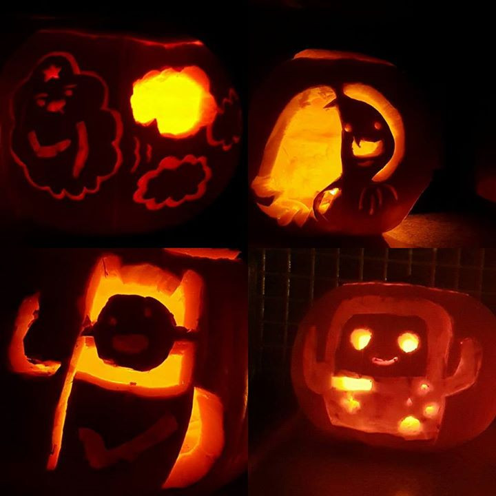 Our version of Adventure Time pumpkin carvings