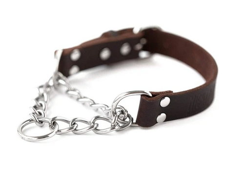Small Leather Martingale Training Collar