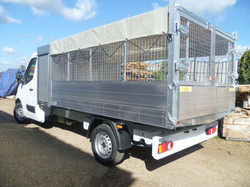 Tipping Body with Cage, Tool Box and a PVC Roof Cover