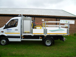 5 tonne Chassis  with Tool Box Behind the Cab, Sid Access Steps, Safety Rails All Round