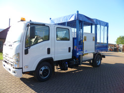 Steel Tipping Body with a Side Lift and PVC Roof Cover