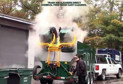 TRASH BIN CLEANERS DIRECT GREEN TRAILER