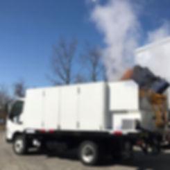 Truck mounted trash bin cleaning trucks.