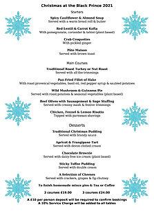 Christmas at The Black Prince 2021 menu with snowflakes_0.jpg